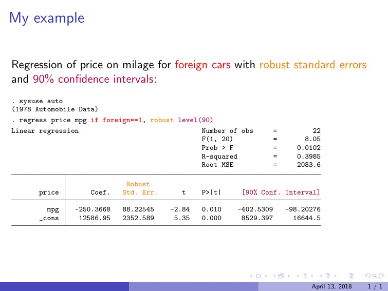 Texdoc Creating Latex Documents From Within Stata